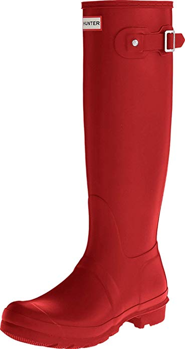 Hunter 'Original Tall' Rain Women's Boot (Matte) - Military Red [Size US6]
