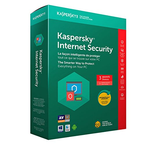Kaspersky Internet Security 2018 - 3 Users, 1 Year *ACTIVATION CODE VALID UNTIL END 2019*