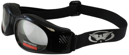 Global Vision Kickback Motorcycle Glasses Black Frame/Smoke Lens