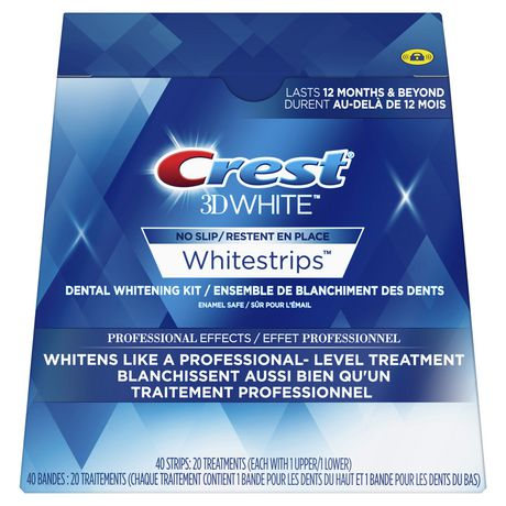 Crest 3D White Whitestrips Professional Effects (20-Treatments/40-Strips) *Missing 3 Packs*