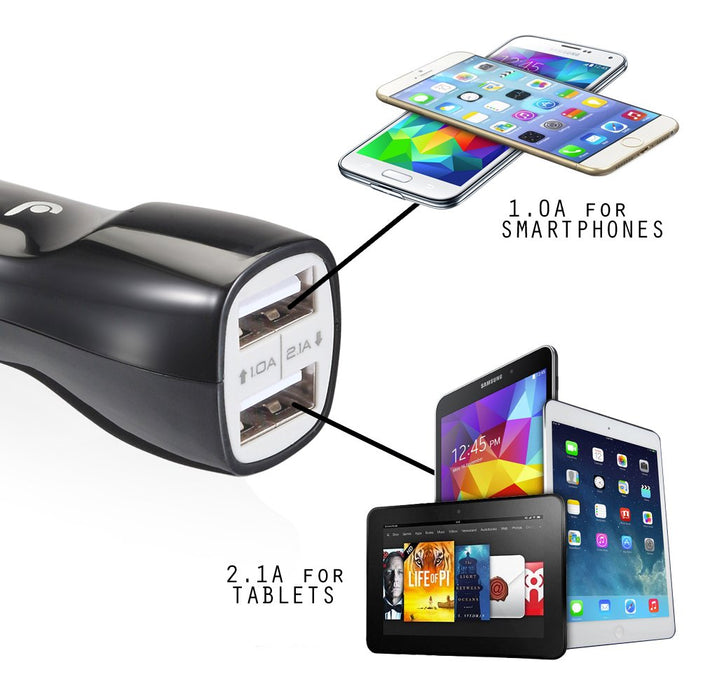 Fosmon 3.1A Dual Port USB Car Charger