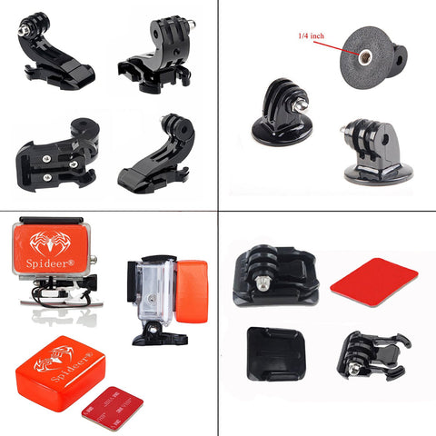 Spideer 45-in-1 Accessories Kit for Gopro 4 Gopro 3+ Gopro 3 2 1