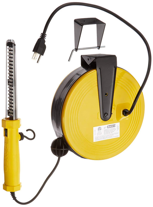 Bayco SL-864 60 LED Work Light on Metal Reel with 50-Foot Cord *MISSING MOUNTING BRACKET*