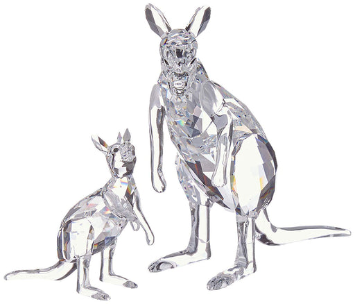 Swarovski Kangaroo Mother with Baby Clear