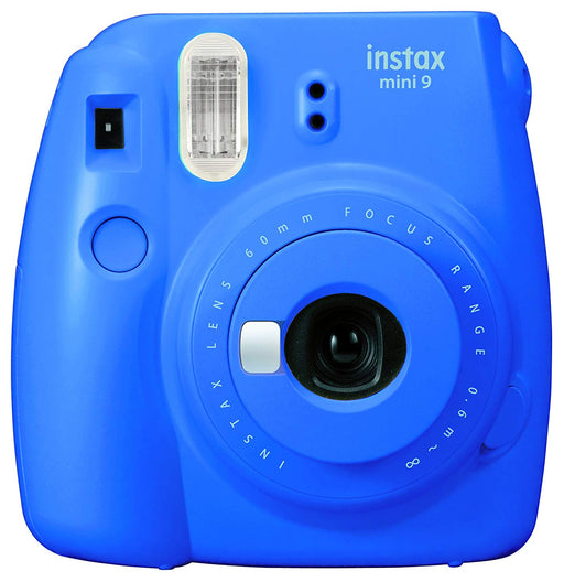 Fujifilm Instax Mini 9 Instant Camera, Cobalt Blue *Camera And Blue Strap Only*