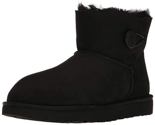 UGG Women's Mini Bailey Button II Winter Boot - Black (US 9)