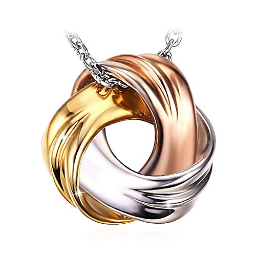 "J.Rosée Necklace With 925 Sterling Silver Two-Tone Spiral Pendent 18""+ 2"" Extender Chain"