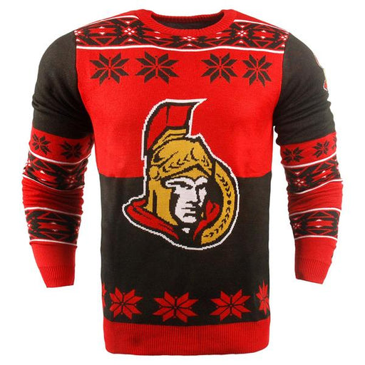 FOCO Official NHL Big Logo Sports Crew Neck Sweater (Ottawa Senators) XL Size