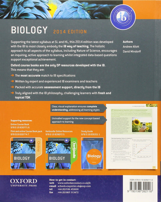 IB Biology Course Book 2014 edition*USED
