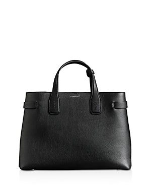 Burberry 4077518 Medium Banner Leather Tote - Black