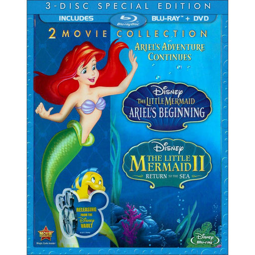 The Little Mermaid II & Ariel's Beginning 2-Movie Collection Blu-Ray Combo Pack (Blu- Ray/DVD)