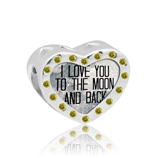 Pugster I Love You To The Moon And Back- Yellow Gems-