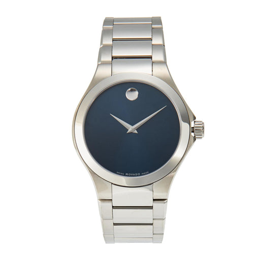 Movado Defio Blue Dial Mens Watch 0606335 *Light Blemishes*