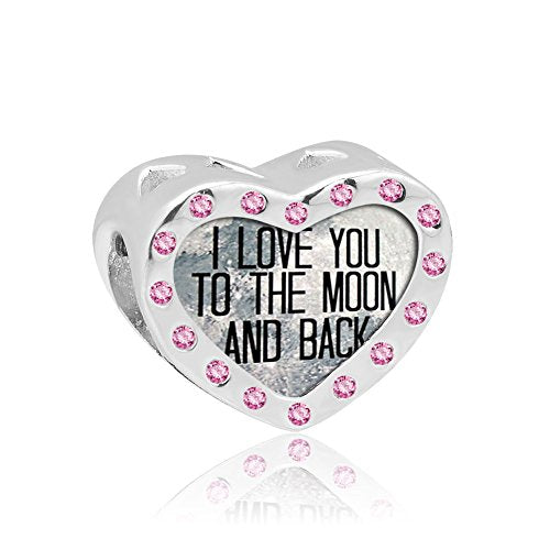 Pugster I Love You To The Moon And Back- Pink Gems-