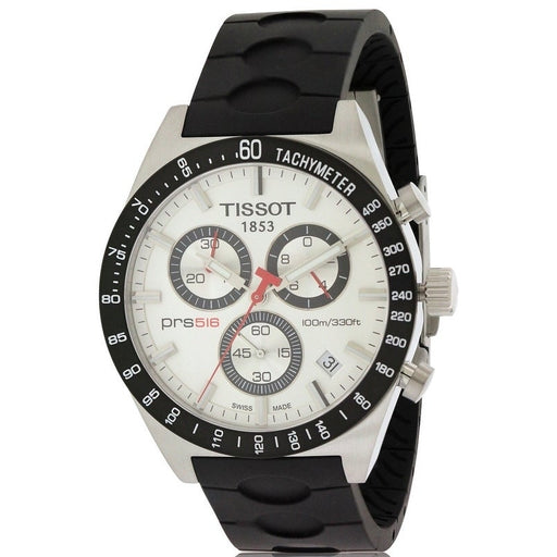 Tissot PRS 516 Chronograph Rubber Mens Watch *USED*