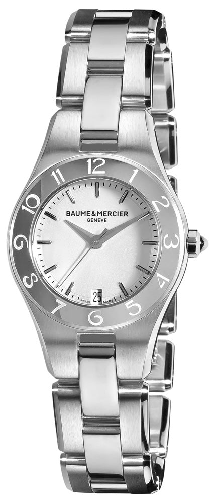 Baume and Mercier Linea Silver Dial Ladies Watch MOA10009 (Incl. Additional Strap) *LIGHT WEAR*