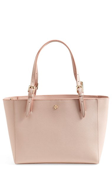 Tory Burch Saffiano 'Small York' Tote Bag - Blush Pink *Some Wear*