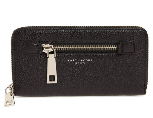 Marc Jacobs Black Gotham City Continental Wallet -Black/Gold