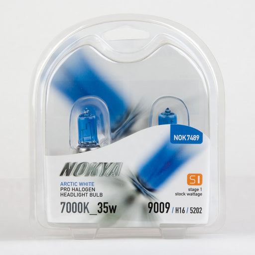 Nokya H16 (5202) Arctic White Stage 1 7000K Pro Halogen Headlight / Fog Light Car Light Bulb Replacement One Pair NOK7489