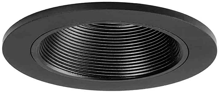 Halo Recessed 3003BKBB 3-Inch 35-Degree Adjustable Trim with Baffle, Black