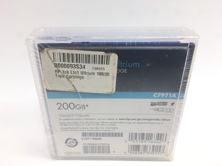 HP C7971A 100/200GB LTO Ultrium 1 Data Tape Cartridge