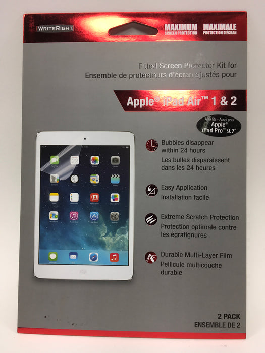 WriteRight Fitted Screen Protector Apple IPad Air 1&2