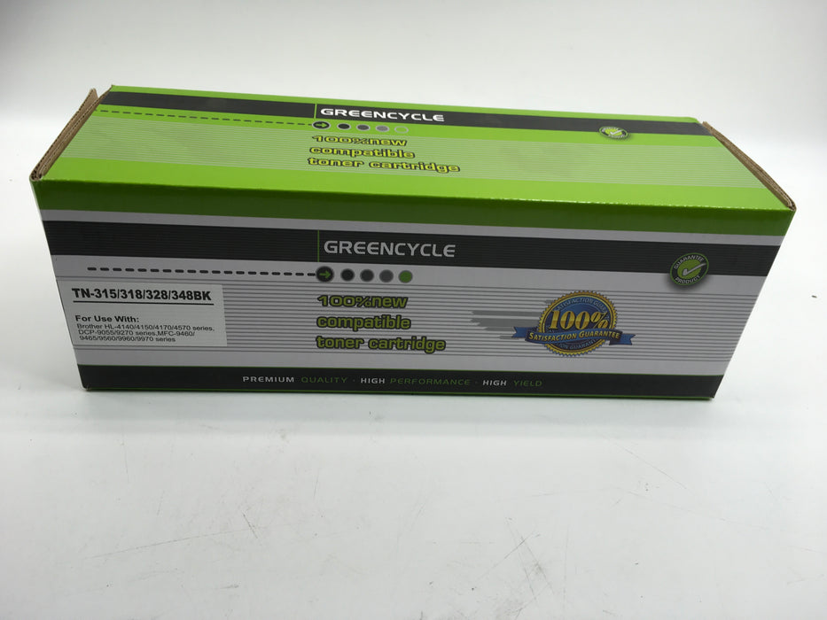GREENCYCLE TN315 TN-315 Black Cyan Magenta Yellow Toner Cartridge Set Compatible for Brother HL-4150cdn HL-4570cdw HL-4570cdwt MFC-9460cdn MFC-9560cdw MFC-9970cdw Printer