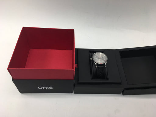Oris Men's Audi Stainless Steel Swiss-Automatic Watch with Leather Calfskin Strap, Black, 21**little scratches**