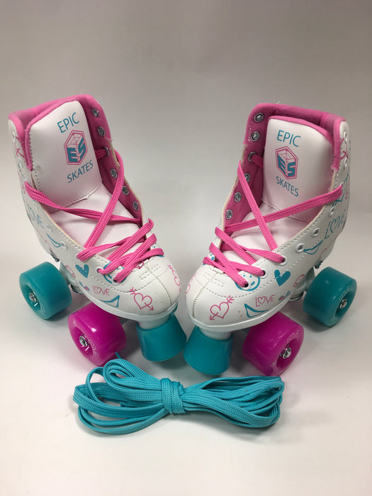 Epic Skates Frost High-Top Indoor/Outdoor Quad Roller Skates - Children's, Size J11