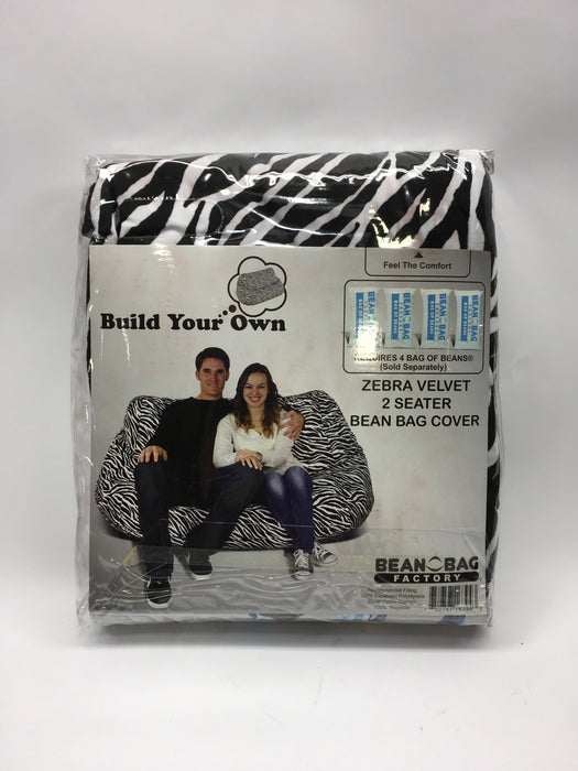 Tremendous Bean Bag Factory Bean Bag Cover 2 Seater Velvet Zebra Print Onthecornerstone Fun Painted Chair Ideas Images Onthecornerstoneorg
