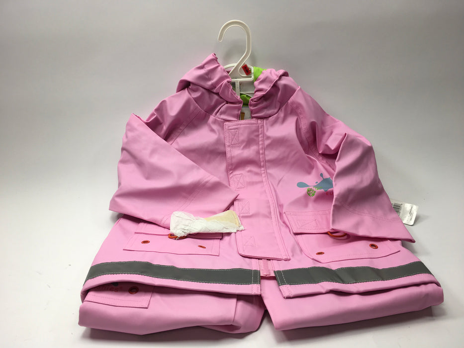 Kushies Splish Splash Rain Jacket & Pant Set - Medium 24M-Pink