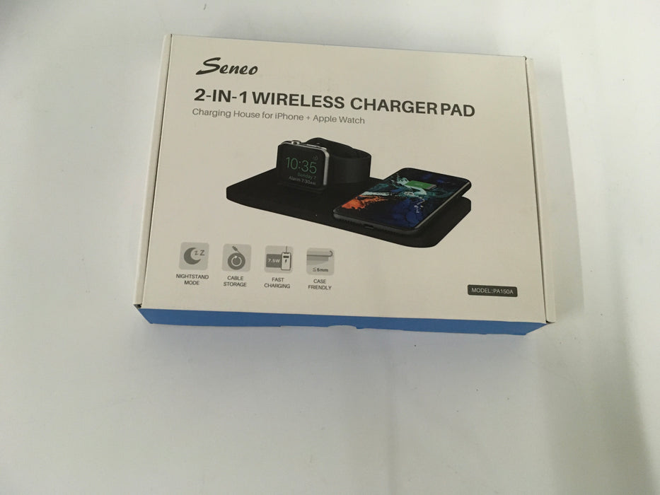Seneo PA150A 2 in 1 Wireless Charging Pad with QC 3.0 Adapter