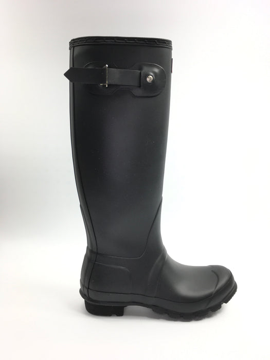 Hunter 'Original Tall' Rain Women's Boot (Matte) - Black [US  7]