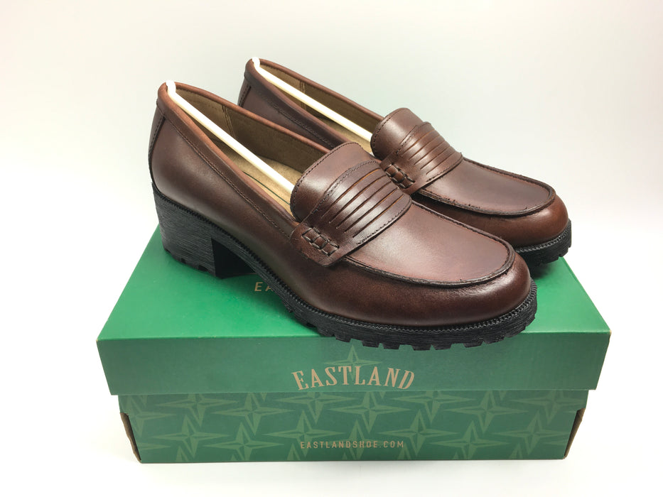 Eastland Women's Newbury Block Heel Loafers Brown Size 10 US Women