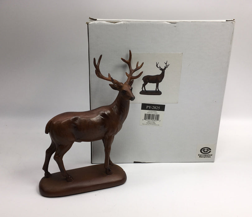 Unison Gifts PY-2825 6 H In. - Wooden Peaceful Deer