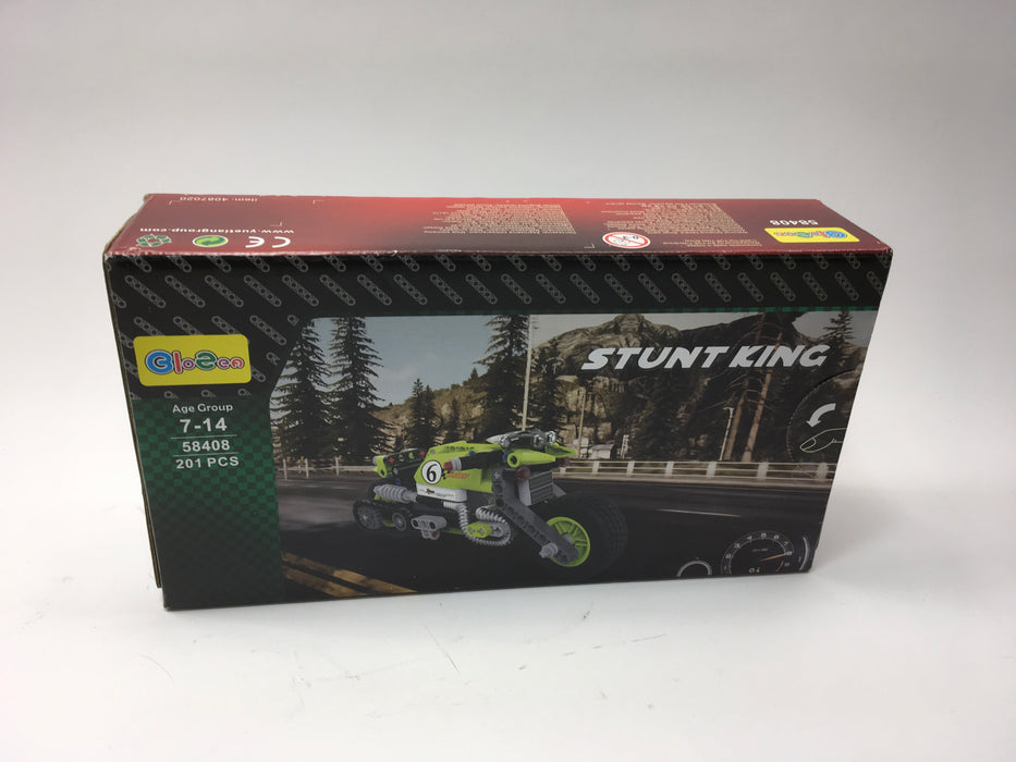 BIOZEA Inserting Toy Motorcycle Building Sets Stunt King ABS Plastic Blocks for Boy