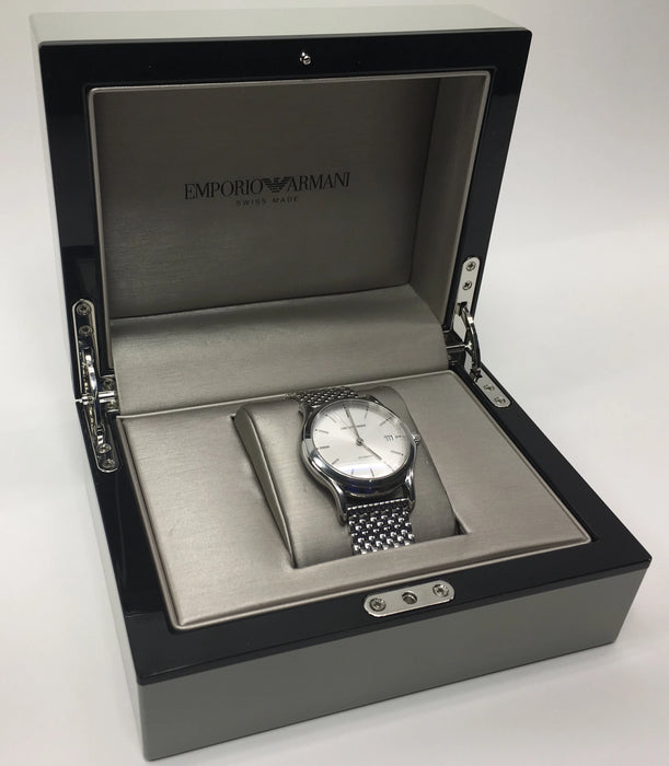 Emporio Armani Men's Classic Stainless Steel Silver Dial Watch ARS3106