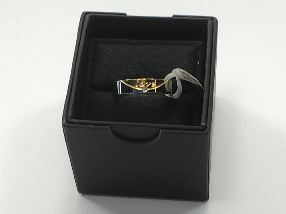 Rowag 6MM Mens Gold Plated Promised Bands Size 8