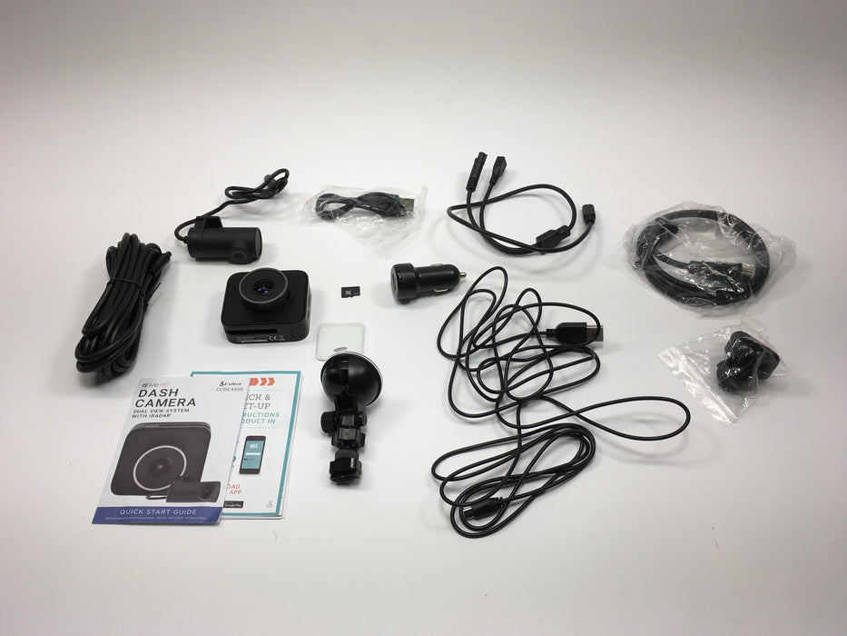 Cobra CCDC4500 Drive HD Dual View Dash Camera System *FOR PARTS ONLY/NOT WORKING*