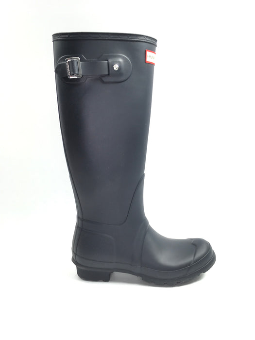 Hunter 'Original Tall' Rain Women's Boot (Matte) - Navy {Size 7}
