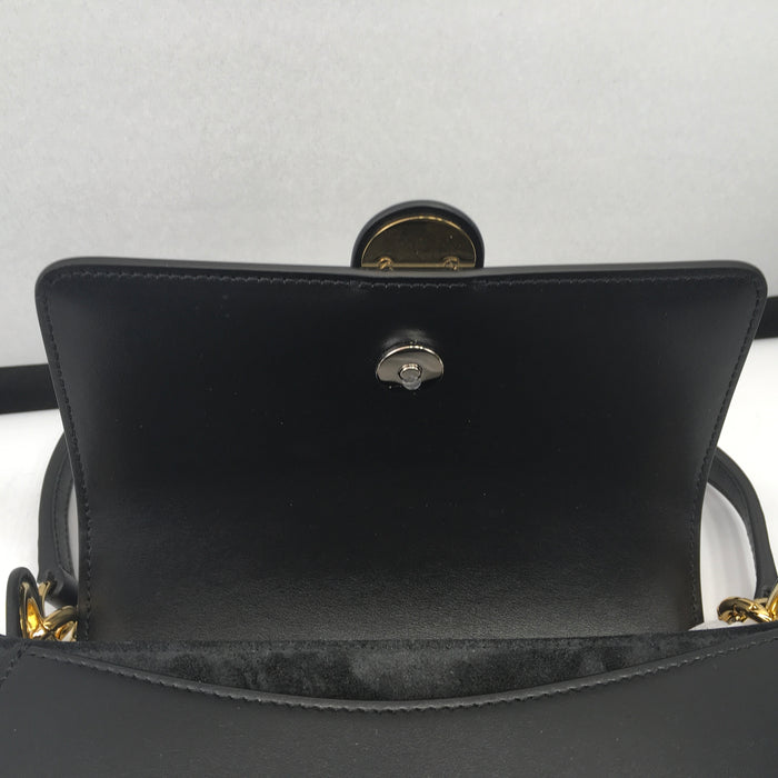 Tess large bag in shiny & suede calfskin - Black