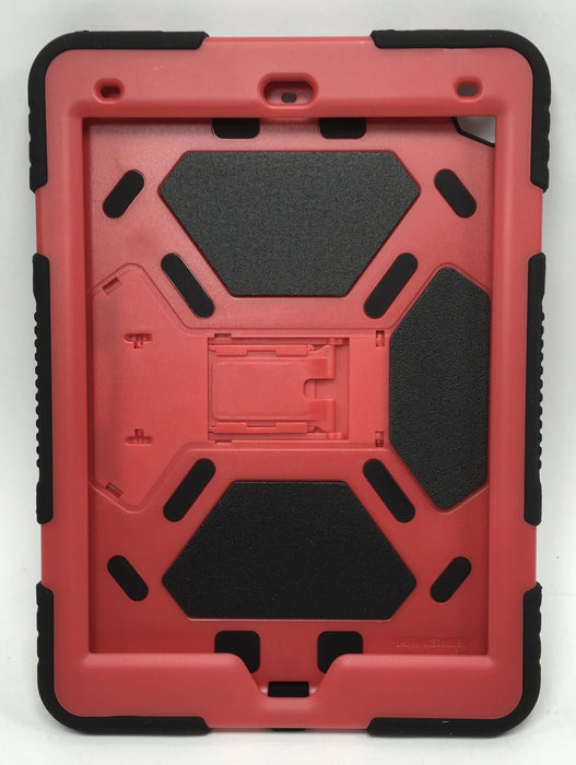 ACEGUARDER New iPad 9.7 2017 Case [Impact Resistant] [Shockproof] [Heavy Duty] Full Body Rugged Protective Cover with Kickstand & Dual Layer Design for Apple New iPad 9.7 inch 2017 (Red/Black)