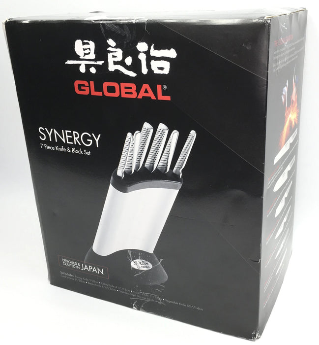 Global Synergy Knife Block Set, 7 piece *Opened Box*