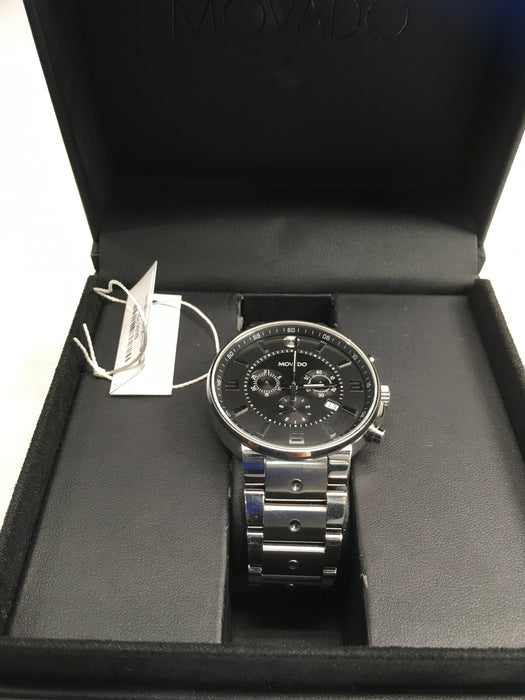 Movado SE Pilot Black Dial Stainless Steel Chronograph Mens Watch 0606759