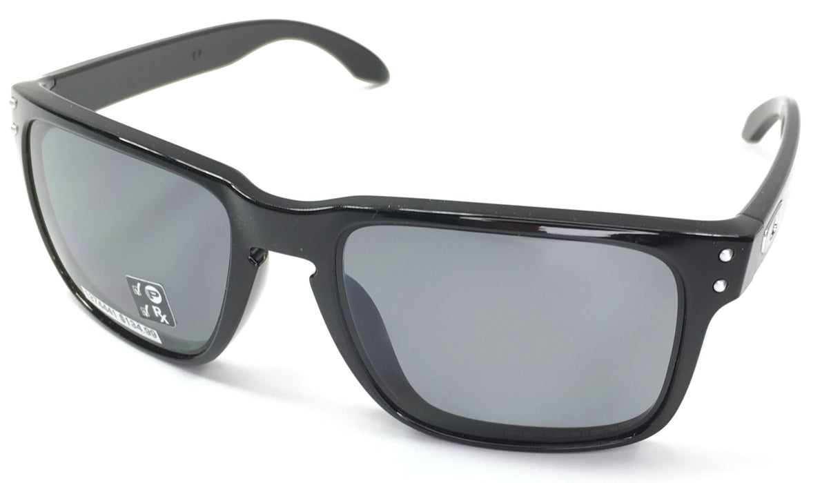 Oakley Holbrook Polarized Sunglasses - One Size - Polished Black / Grey Polarized