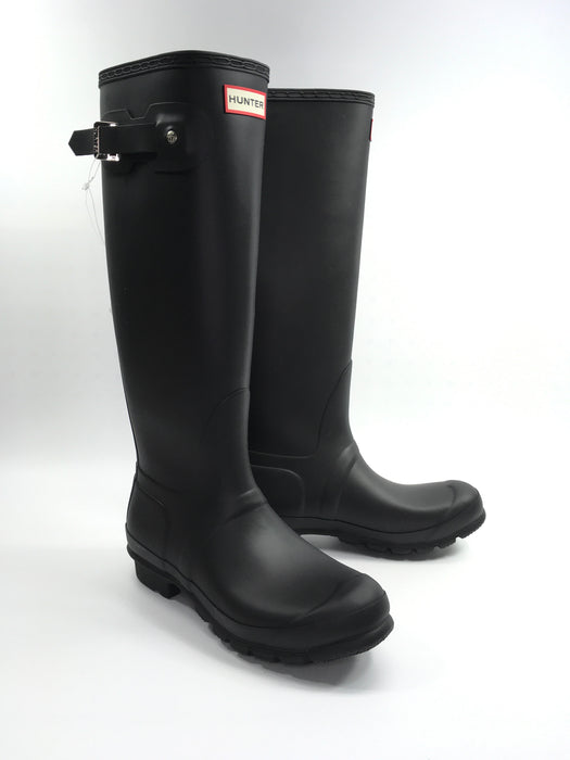 Hunter 'Original tall' Rain Women's Boot (Matte) - Black {US 9 M}