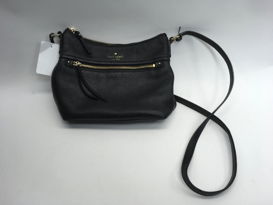 kate spade new york 'Cobble Hill - Gabriele' Pebbled Leather Crossbody Bag, Black *SOME WEAR*