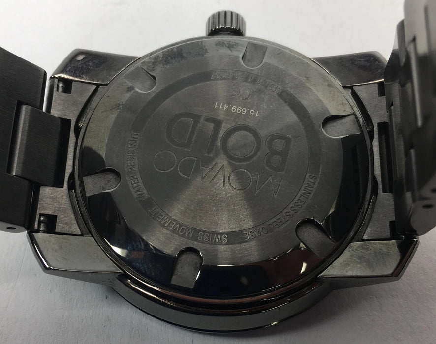 Bold Grey Dial Grey Ion-plated Men's Watch **VISIBLE SIGNS OF WEAR**