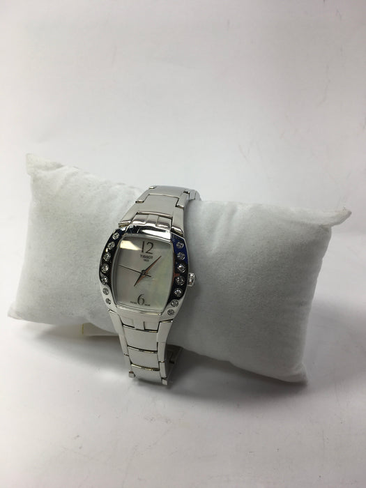 Tissot Women's T053.310.61.112.00 White Mother-Of-Pearl Dial Femini T Watch