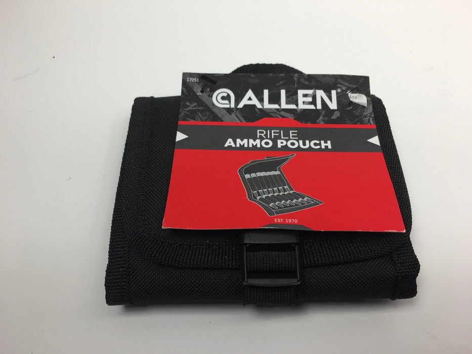 Allen Belt Rifle Ammo Pouch Black Holds 14 Rifle Cartridges